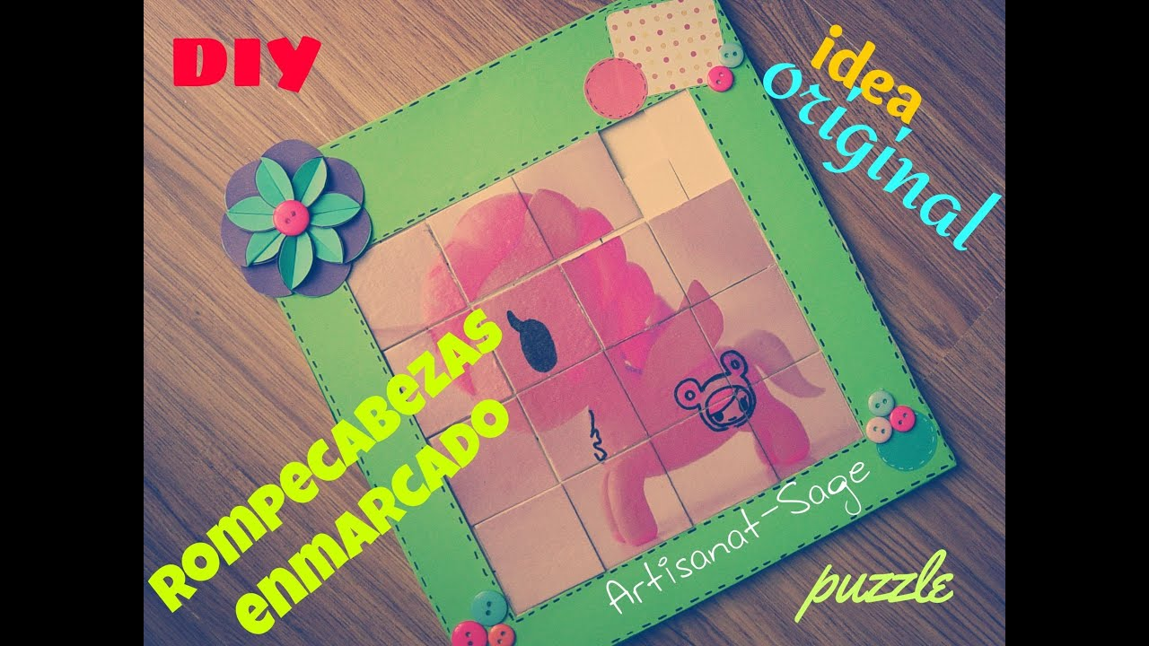 rompecabezas enmarcado /puzzle- DIY (gift idea) - YouTube