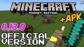 Minecraft Pocket Edition 0.13.0 Official Version + Apk