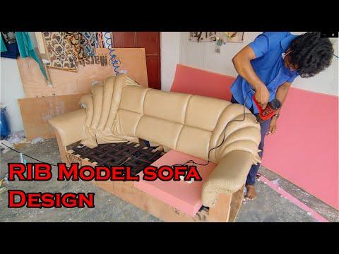 Download RIB Model sofa Design/ Latest model leather sofa /how to ,furniture design,/how to make leather sofa