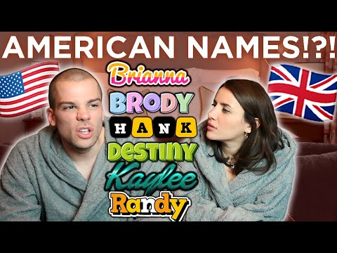 🇺🇸American Names You Won't Find In Britain! 🇬🇧