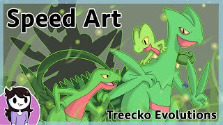 Speedart: Treecko Evolutions