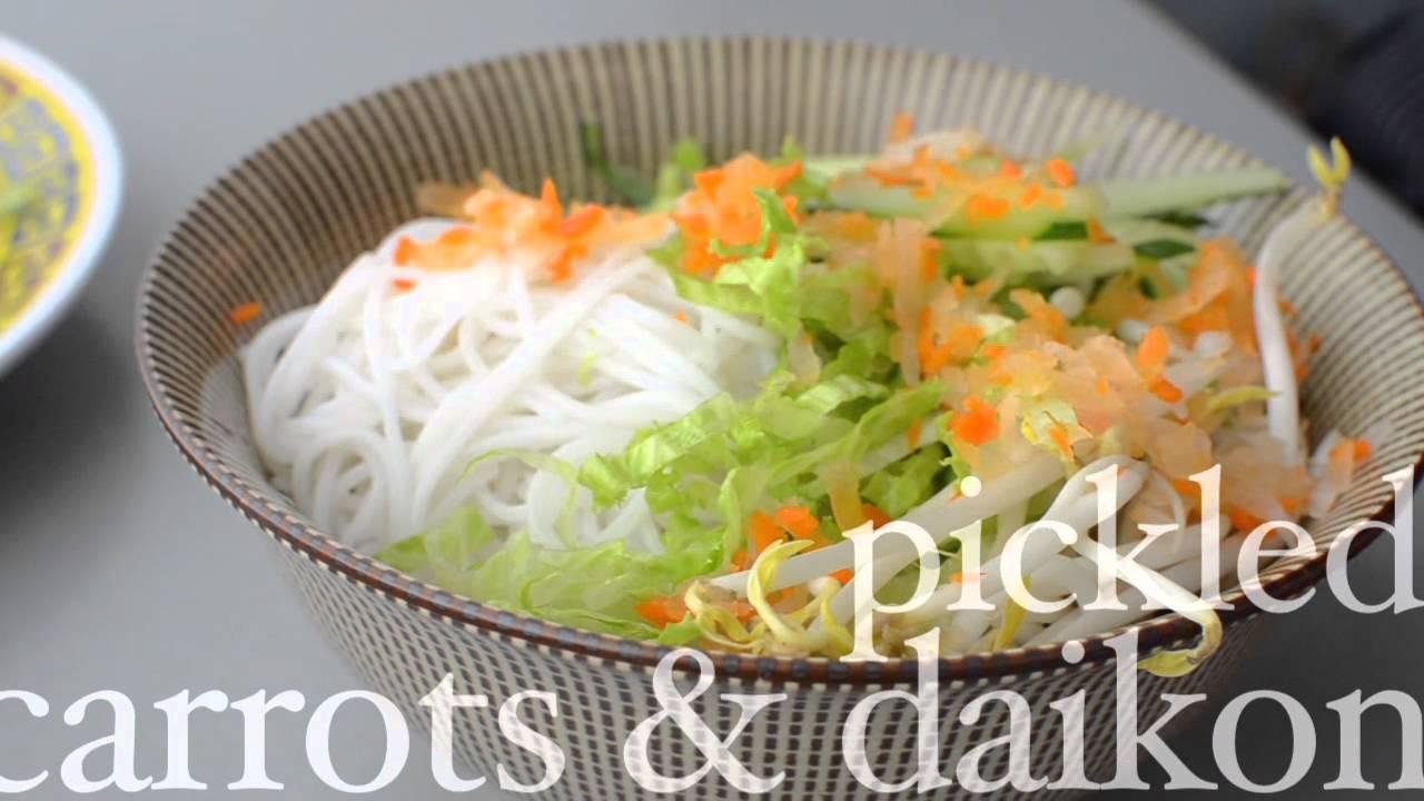 Vermicelli Noodle Bowl Recipe  How To Make Authentic Vermicilli Noodle  Bowl  Youtube