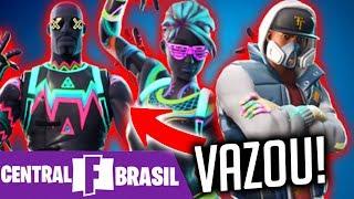 FORTNITE-LEAKED 7 AMAZING NEW SKINS! CHECK ALL! -Central Fortnite Brazil