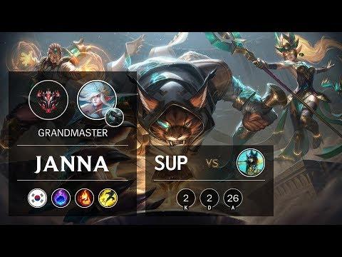 Janna Support vs Nami - KR Grandmaster Patch 10.2