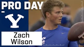 Zach Wilson FULL Pro Day Highlights: Every Throw