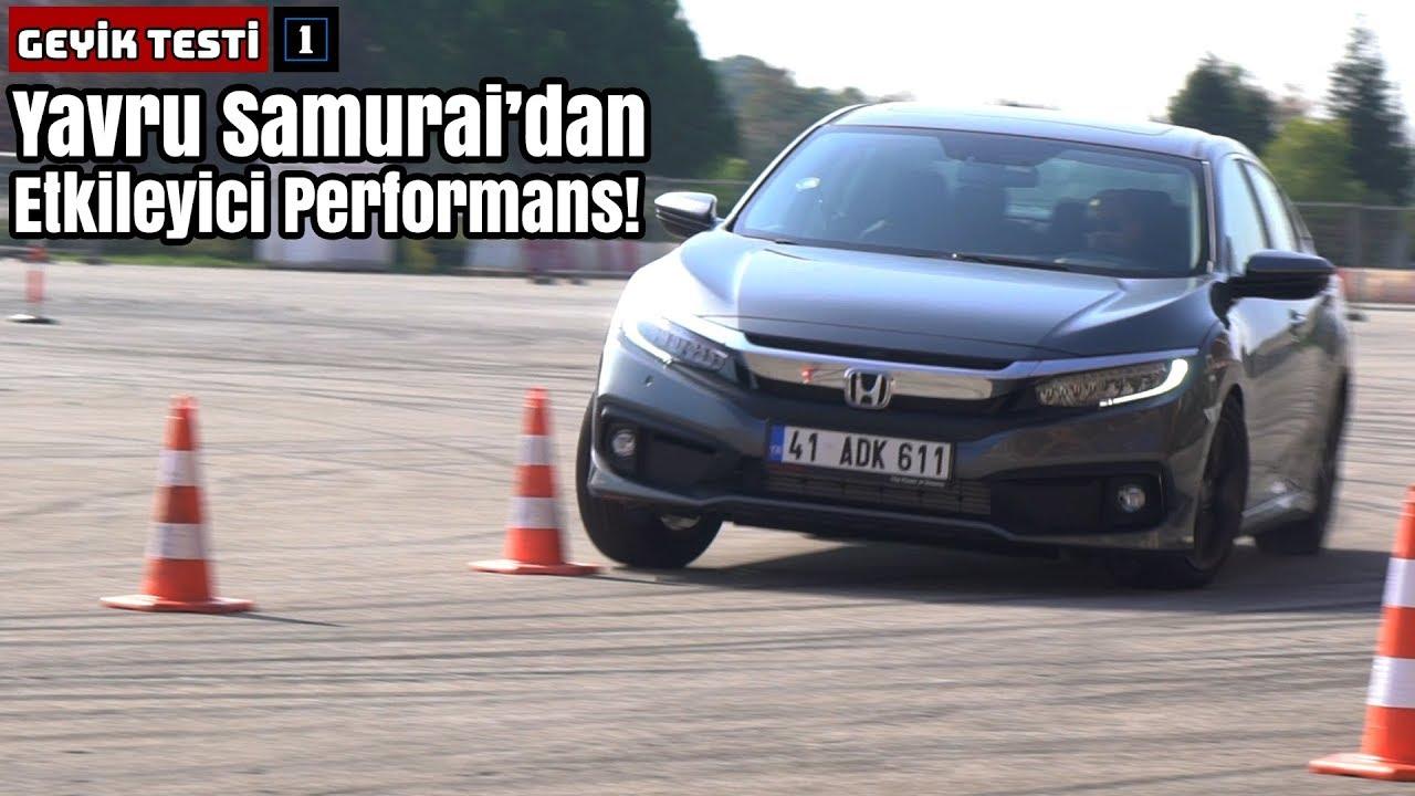 2019 Honda Civic 1.5 VTEC Turbo Geyik ve Slalom Testi | Yavru Samurai'dan Etkileyici Performans!
