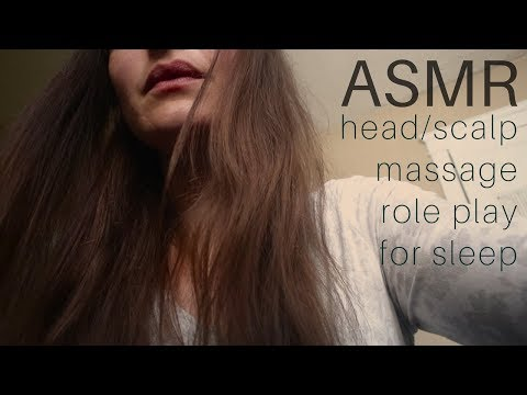 Tingly Scalp/Head Massage Role Play + Close up ASMR Whispering
