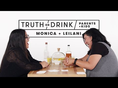 Parents and Kids Play Truth or Drink (Monica & Leilani)   Truth or Drink   Cut