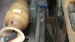Slim Vase With Segment Ring Wood Turning By Al Furtado