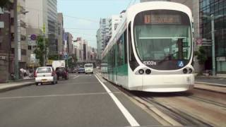 【車載動画】広島市・広電本線、江波線に沿ってドライブ