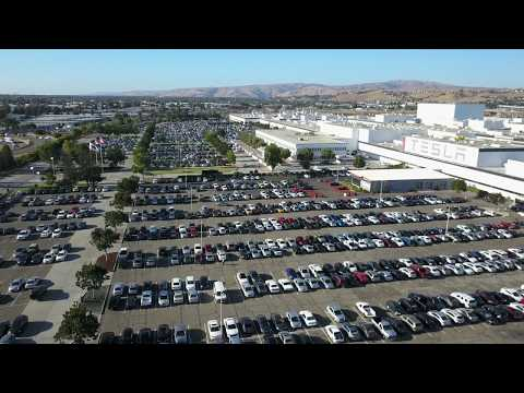 Tesla Factory Drone Flyover- Note all of the Model III