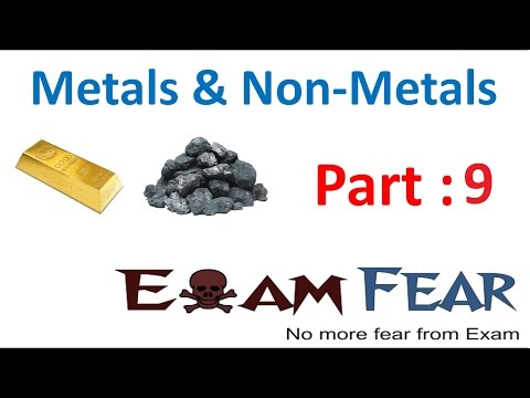 Chemistry Metal & Non-Metal Part 9 (Non metal reaction with oxygen) Class 8  VIII
