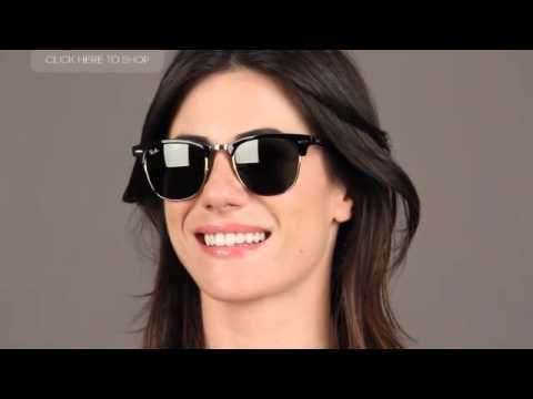 ray ban rb3016 clubmaster classic w0365  Ray-Ban RB3016 Clubmaster W0365 Sunglasses Review - YouTube