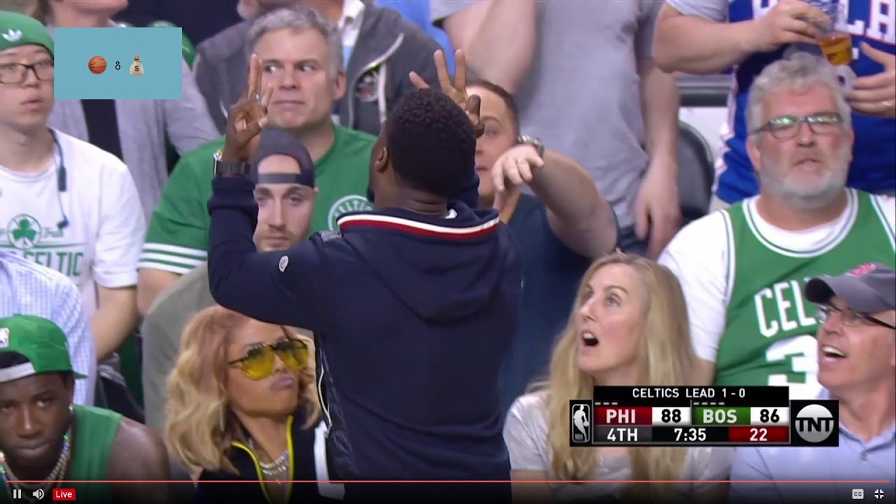 5c8c590c4 Kevin Hart Taunts Celtics Fan After Joel Embiid Makes a Three - YouTube