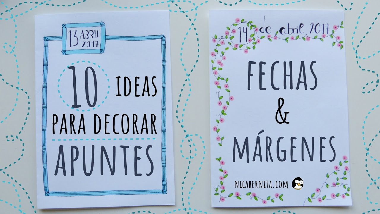 Ideas De MÁrgenes Para Decorar Cuadernos Y Libretas: 10 IDEAS PARA DECORAR APUNTES, CUADERNOS O AGENDAS