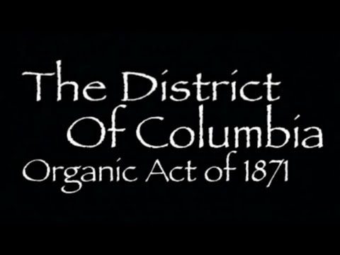 The District of Columbia Act of 1871
