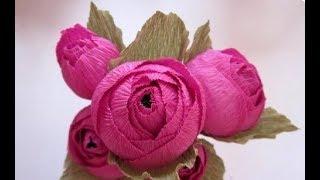 Как Сделать Цветы из Бумаги.Розы из гофрированной бумаги!Букет из конфет...handmade mother's day