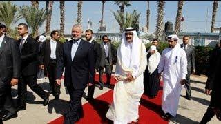 Katar Emiri'nden Gazze'ye tarihi ziyaret