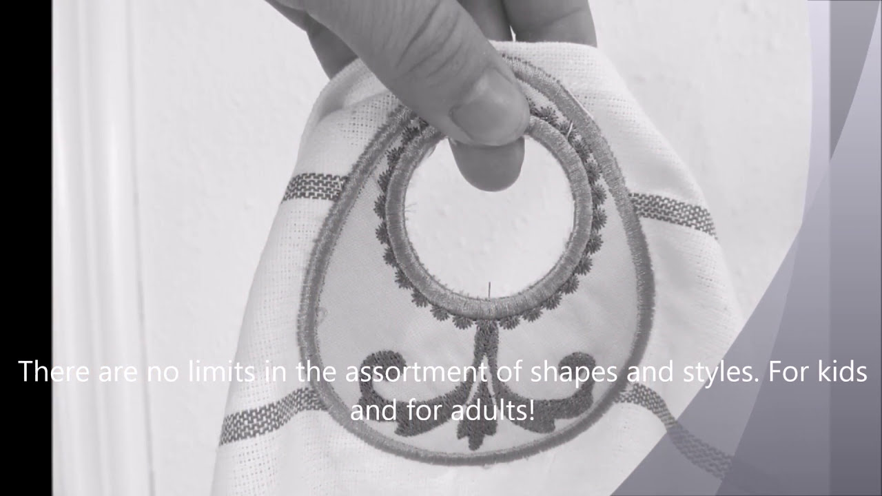 how to make towel topper embroidery hole for hanging