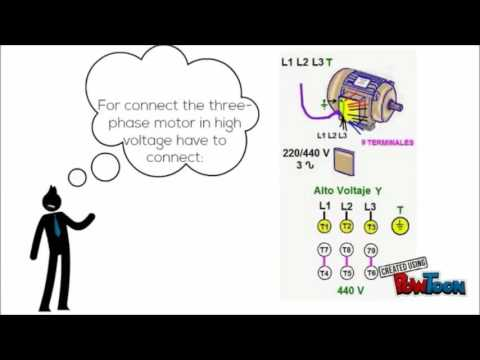 How connect a three-phase motor of 9 wires? - YouTube