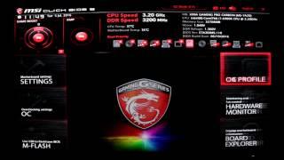 mSI X99A Gaming Pro - BIOS
