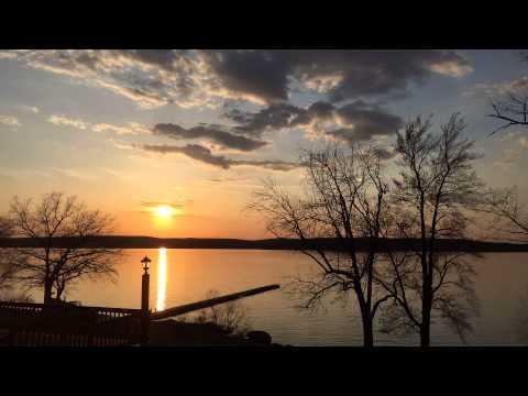 Sunset at Ehrhardt's on Lake Wallenpaupack in Pennsylvania