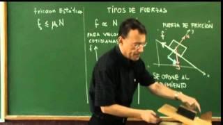 Clase 4, Tipos de fuerza 2:  Fuerza de Fricción