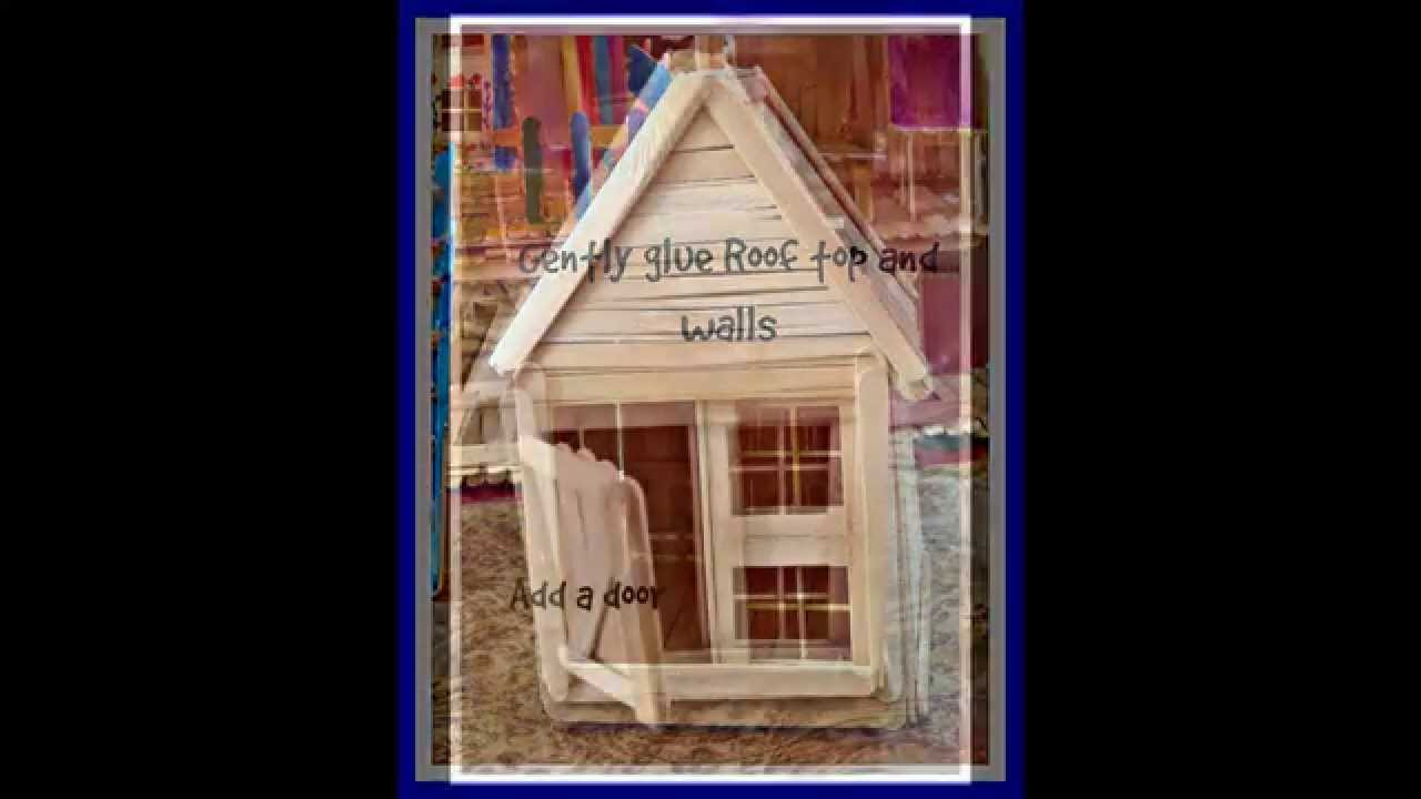 how to make an easy popsicle stick house tutorial - youtube