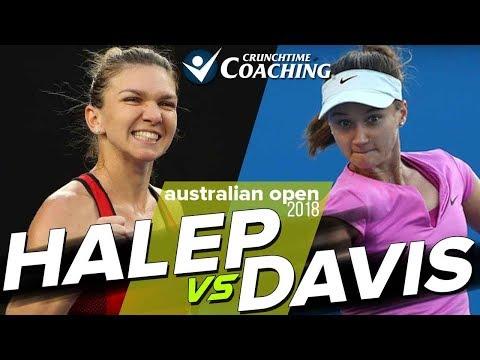 2018 Australian Open: Simona Halep vs Lauren Davis Post Match with Pete