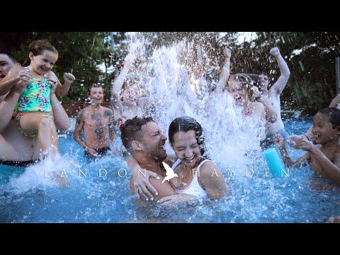 pool-party-reception-in-backyard-wedding!