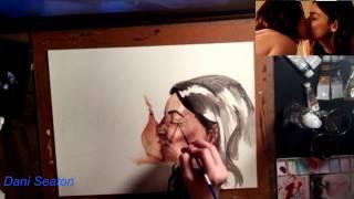 sanvers watercolor speed painting