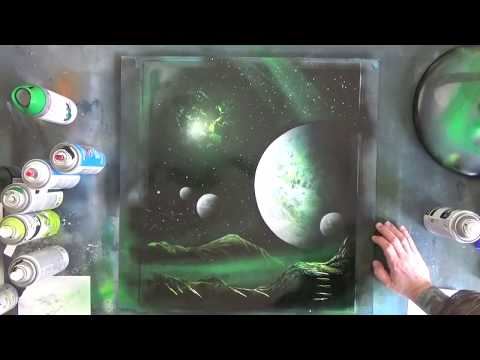 VERDE GALÁXIA - Spray Paint Art by Markus Fussell