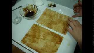 Teñir papel, para envejecerlo, old paper with coffee