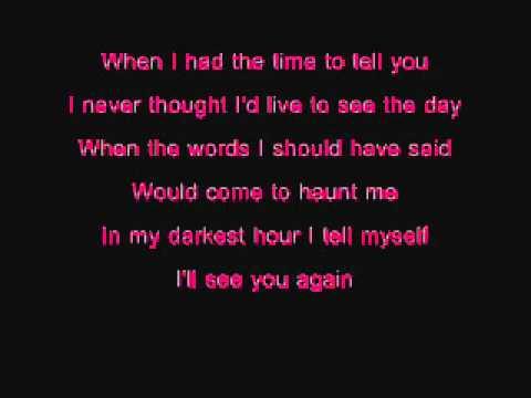 Westlife - I'll See You Again (Lyrics)