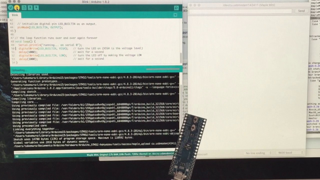 STM32 Maple mini board with STM32duino-bootloader