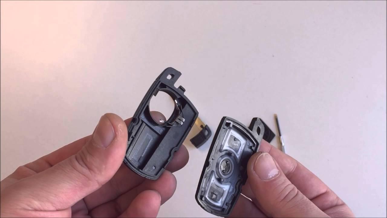 bmw 3 tasten smart key schlüssel mit batterie deckel - youtube