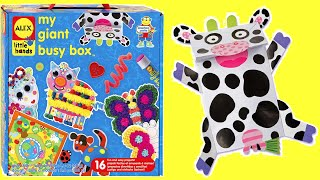 ALEX Toys My GIANT BUSY BOX CRAFT KIT Unboxing - MU MU Cow