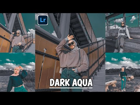 Tutorial lightroom edit foto ala selebgram filter Dark Aqua - Lightroom mobile android cc