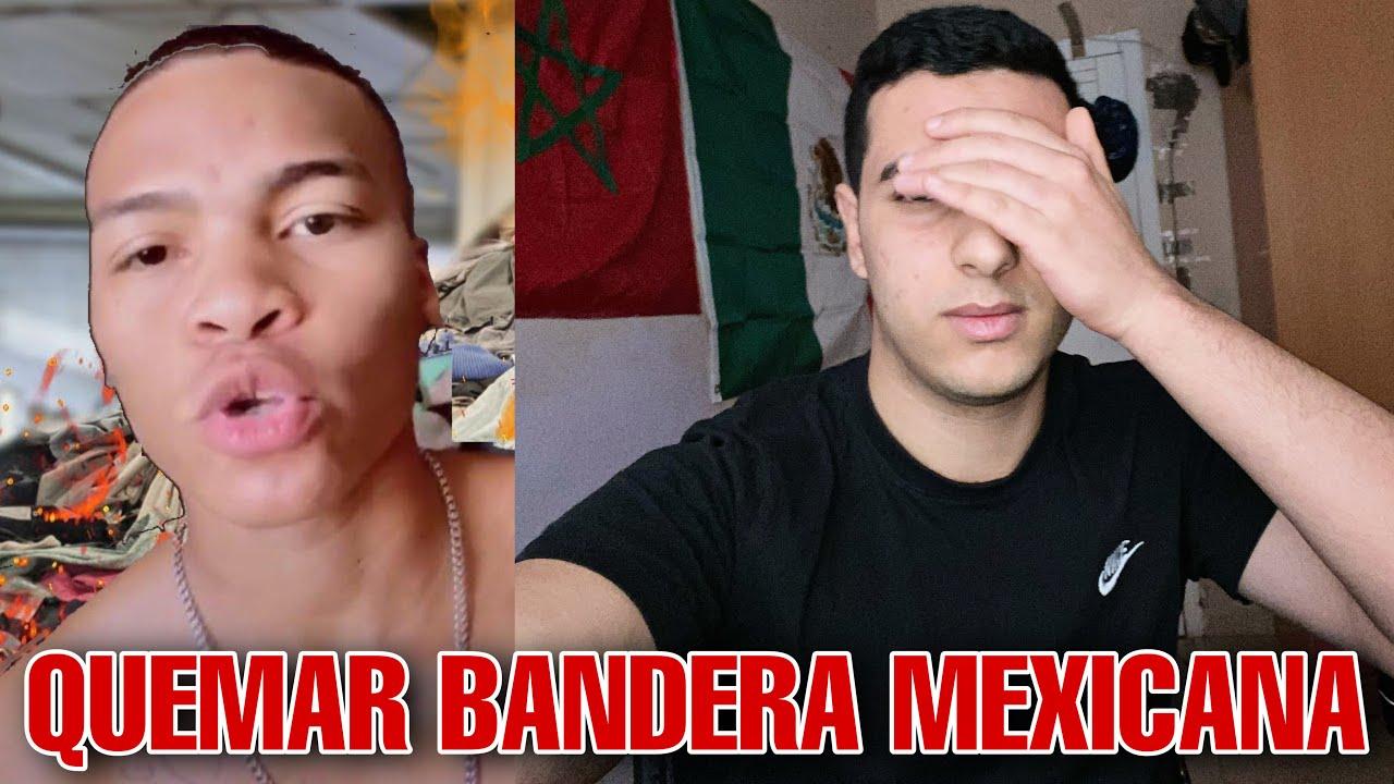 ESTE TIK TOKER DIJO QUE QUERÍA QUEMAR LA BANDERA MEXICANA...