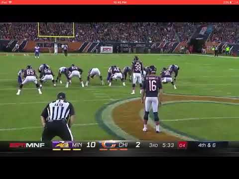 Bears' Fake Punt Touchdown on Monday Night Football | Vikings vs Bears Week 5