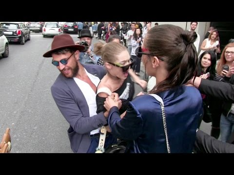 Thumbnail: OFFICIAL VIDEO - FULL - Gigi Hadid gets attacked in Milan by a prankster and FURIOUSLY fights back