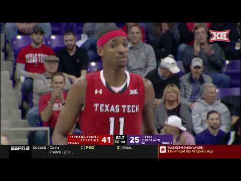 Texas Tech vs TCU Men's Basketball Highlights