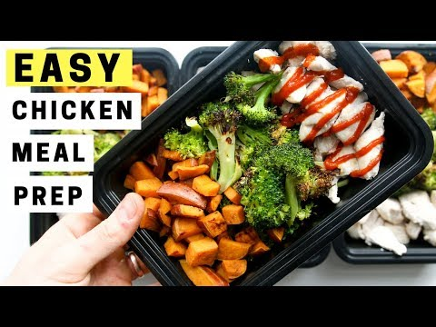 EASY Chicken Meal Prep FOR WEIGHT LOSS | How To Meal Prep Chicken, Broccoli, and Sweet Potatoes