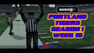 Madden 07 - Portland Tigers vs. Baltimore Ravens - Franchise - Ausberry Becoming A Leader