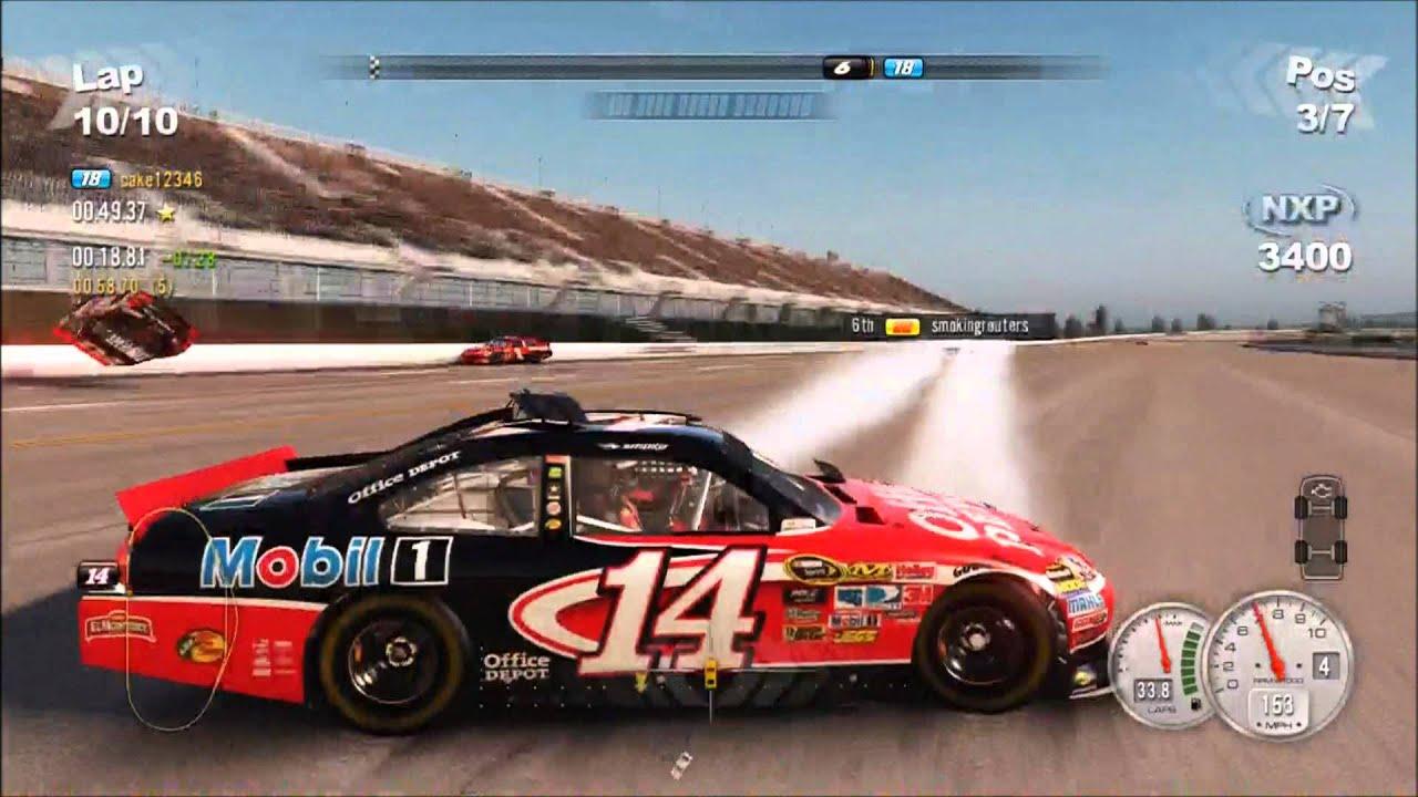 crazy crashes on nascar the game 2011 304322 youtube