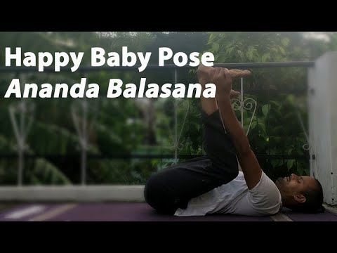 happy baby pose  ananda balasana  youtube