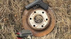 9mm vs 45 ACP vs 223 - Will it go through a brake rotor?