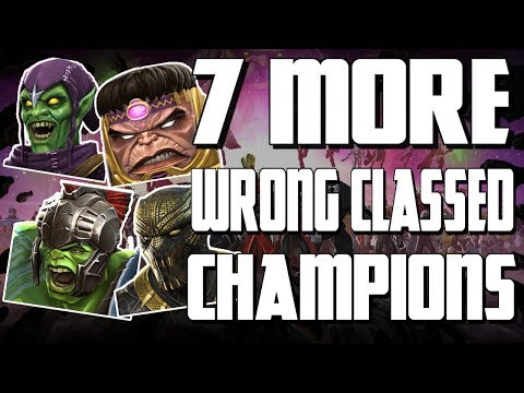 7 More Wrong Classed Champions? | Marvel Contest of Champions
