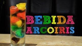 Bebida arcoiris!!! Decora tus bebidas muy original   Bebidas preparadas y hielos con fruta, cafe