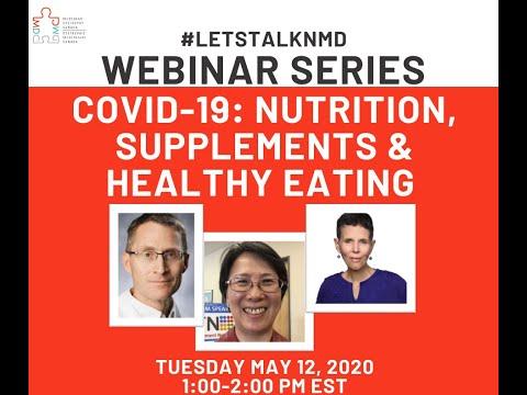 #LetsTalkNMD Webinar Series - Nutrition, Supplements And Healthy Eating